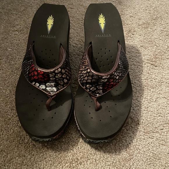 Volatile Wedge Flip Flops/Sandals Sz. 7